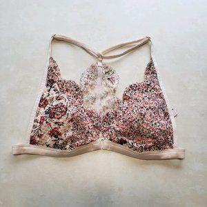 Victoria's Secret   Pink Floral Lace Bralette S